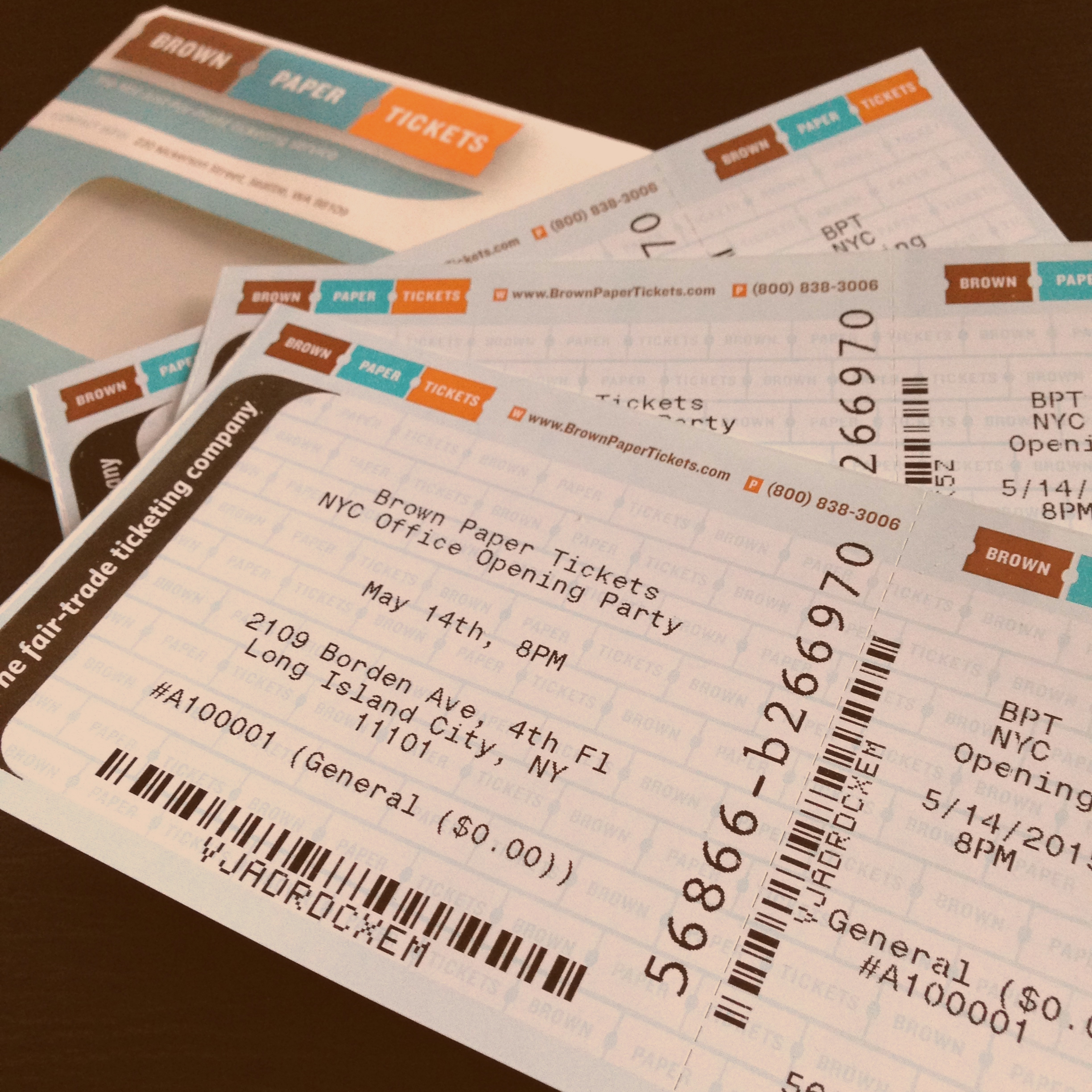 event paper Brown paper tickets - the first and only fair trade ticketing company.
