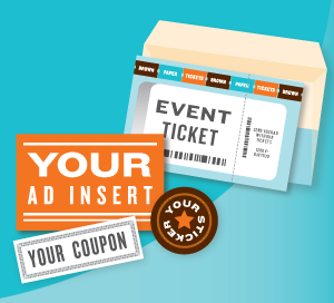 Brown Paper Tickets advertising inserts